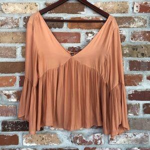 Forever 21 Contemporary Orange/Peach Blouse